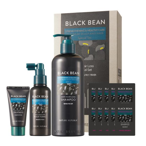 商品圖片,韓國代購 韓國批發-ibuy99 Nature Republic Black Bean Anti Hair Shampoo Set …
