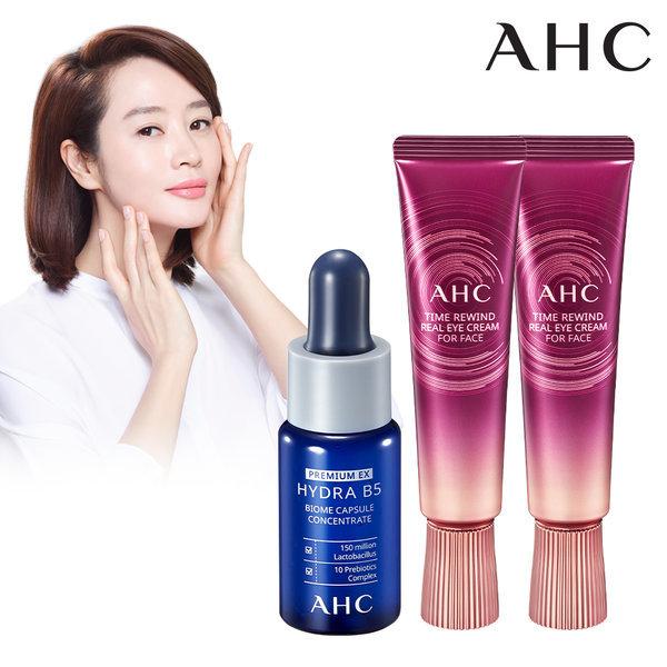 商品圖片,韓國代購|韓國批發-ibuy99|AHC TIME REWIND EYE CREAM 30ml 2pcs+B5 Ampoule 15…