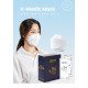 Korea Puair Kf94 yellow dust mask 100 sheets white large-size Individual packaging