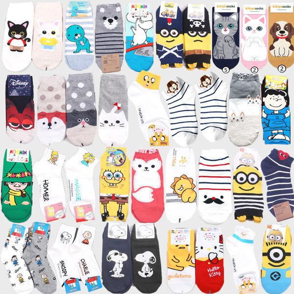商品圖片,韓國代購|韓國批發-ibuy99|Character Socks Women Crew Ankle Women Fashion Me…