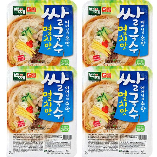 商品圖片,韓國代購|韓國批發-ibuy99|BAEKJE Instant rice noodle anchovy flavor 30pcs/n…