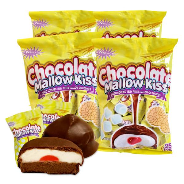 商品圖片,韓國代購|韓國批發-ibuy99|4봉(100개입) 초콜릿 멜로키스_초콜릿 간식 쿠키 과자